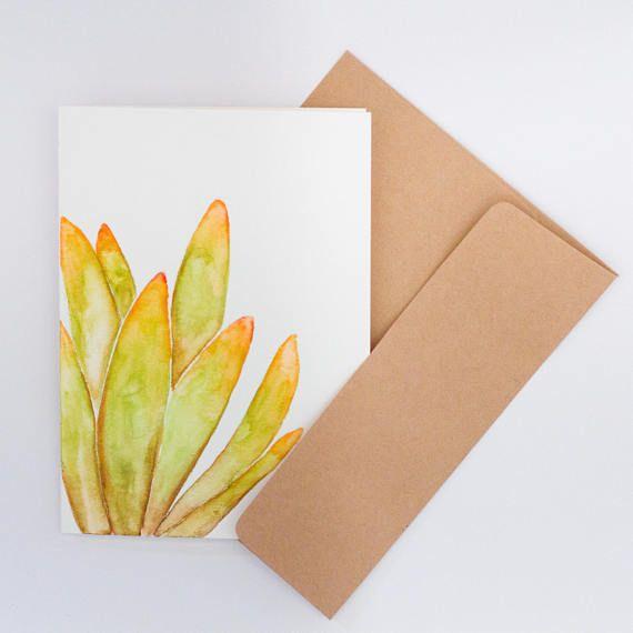Carte de souhaits cactus aquarelle illustration idée
