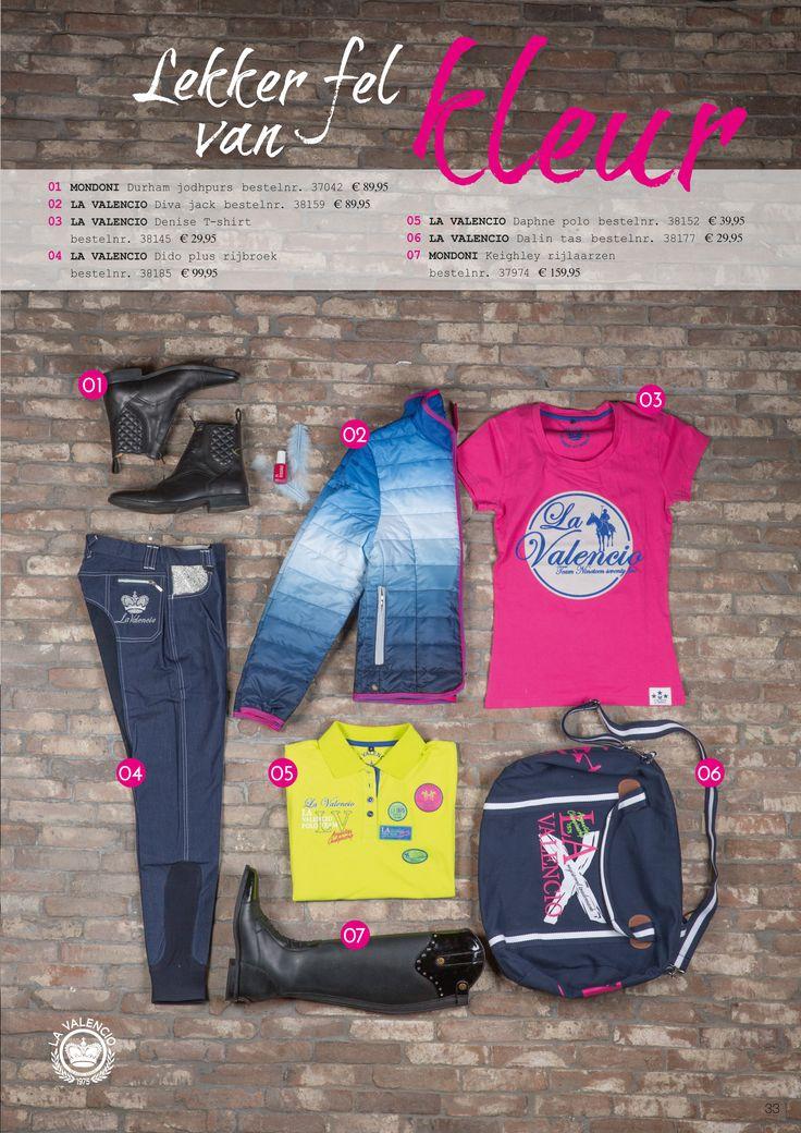 Lekker fel van #kleur met merken #mondoni en #lavalencio. Shop the look op www.divoza.com #horseriding #horseworld #divoza