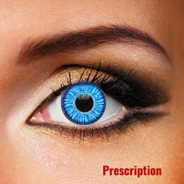 Customized Rx Dream Blue Halloween Contacts With Prescription In 2020 Halloween Contact Lenses Contact Lenses Colored Natural Contact Lenses