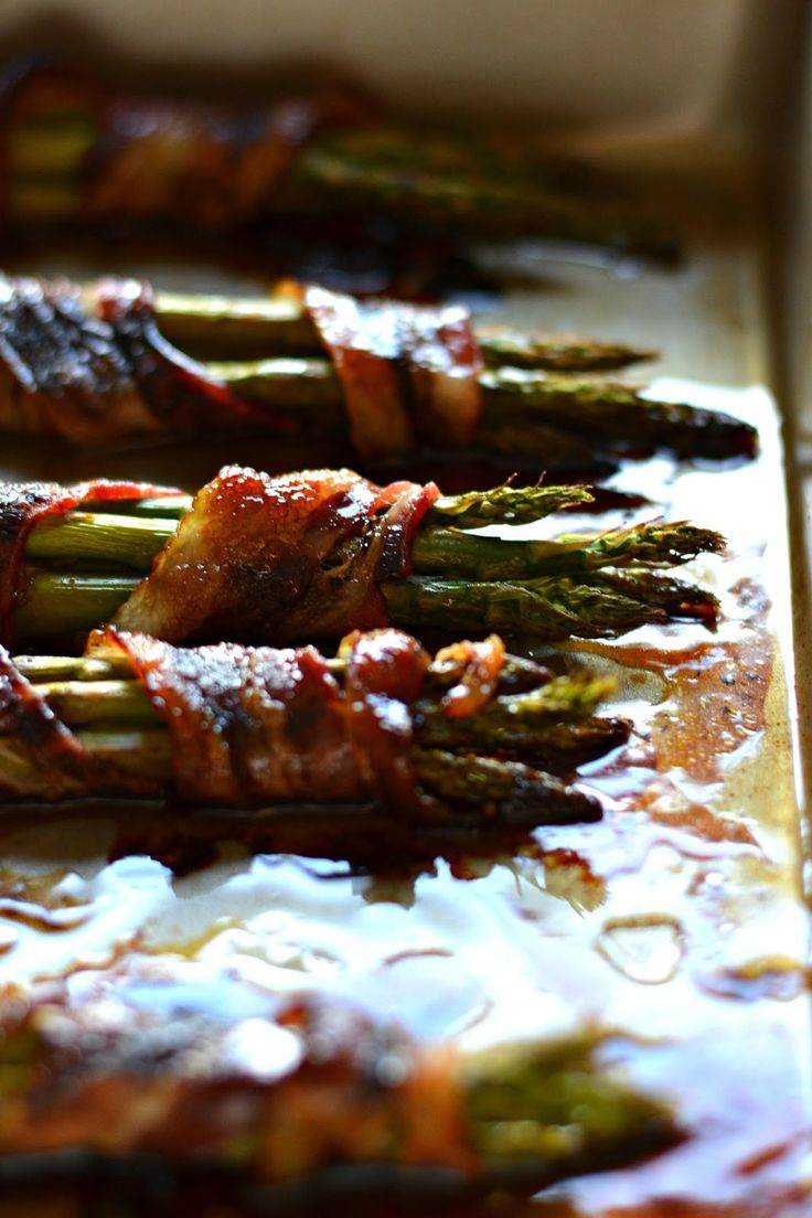 Bacon Wrapped Asparagus with Balsamic Glaze ~ This recipe is incredibly easy, and so delicious!