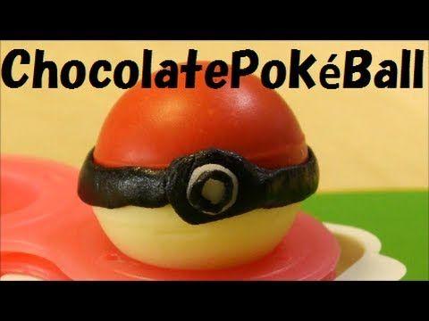 Chocolate Pokéball & Candy Pikachu Recipe ポケモン モンスターボール チョコ  nope, not worth the effort