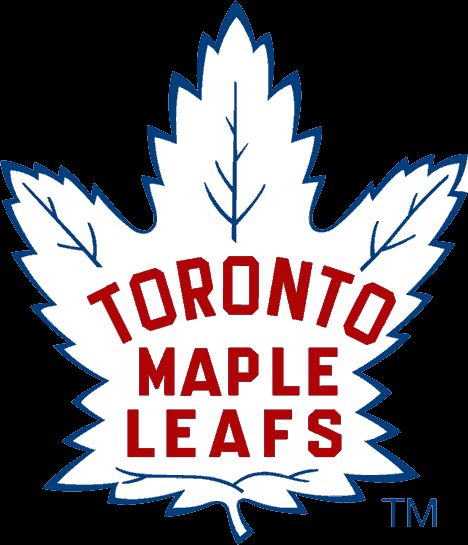 Toronto Maple Leafs Alternate Logo (1946) -  White 35-point maple leaf with team name inside in red