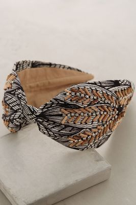 Anthropologie Wood-Stitched Turban Band #anthrofave