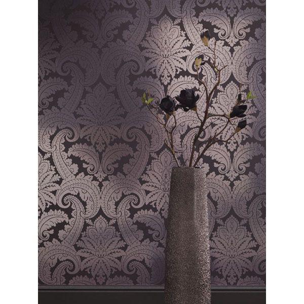 310802 Purple Foil Damask - Eijffinger Wallpaper