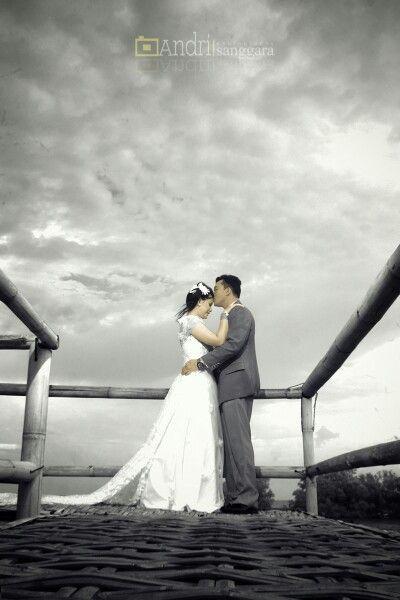 Ginda& tika prewedding  at hutan mangrove surabaya east java