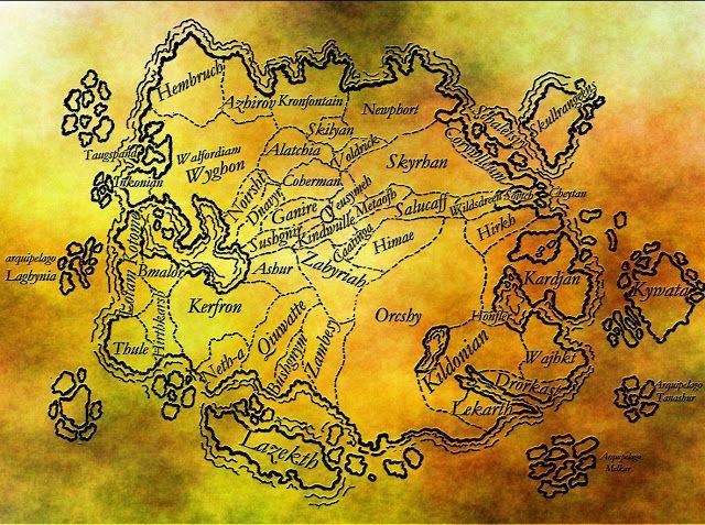 Crônicas de Tárhia: Mapa de Tárhia