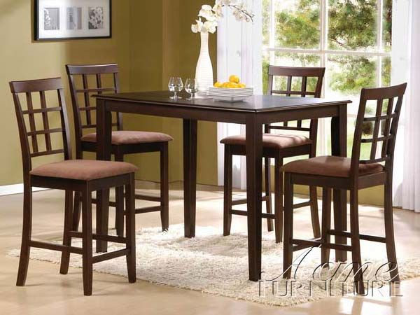 Cardiff 5Pc Pack Counter Height Table Set 06848 By Acme