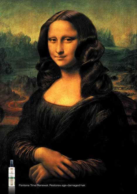 Mona Lisa in Pantene print ad