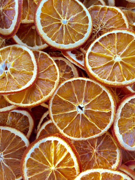 Twelve Natural Dried Orange Slices ~ Christmas Decorations in 2018