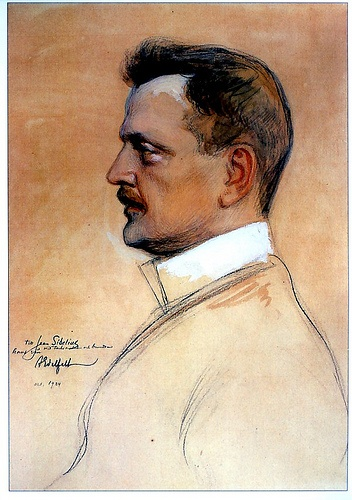 Composer Jean Sibelius. Painting by Albert Edelfelt, 1904