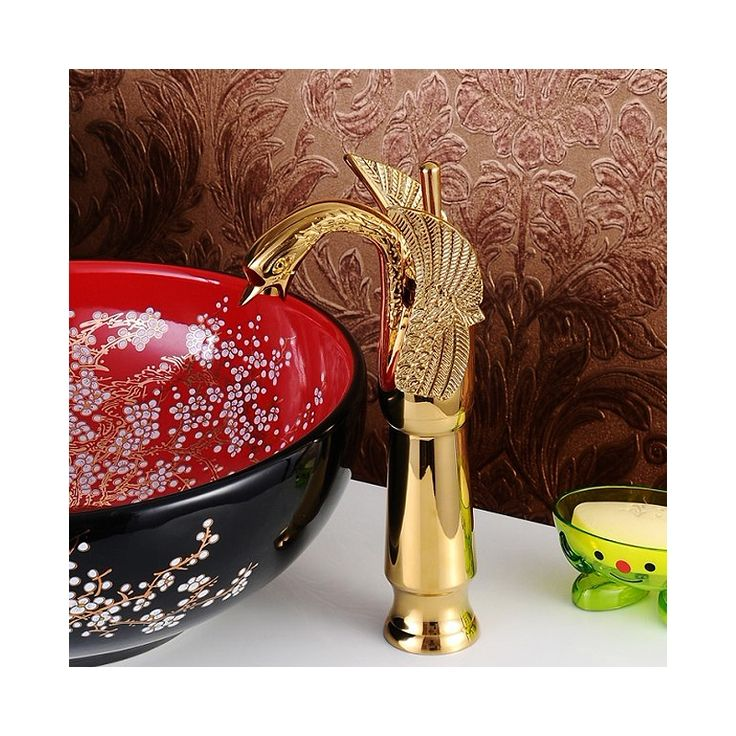Buy Modern Sink Tap Single Handle Swan Featured Ti-PVD Bathroom Sink Faucet with Lowest Price and Top Service!