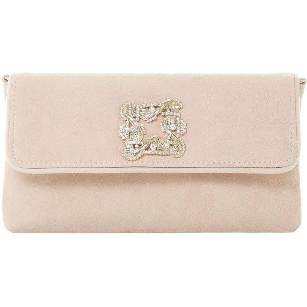 Dune Betsey jewelled suede clutch bag (85 CAD) ❤ liked on Polyvore featuring bags, handbags, clutches, jewel purse, dune purse, suede clutches, dune handbags and pink clutches