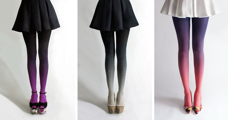 Ombre Tights Hand-Dyed By Tiffany Ju   Bored Panda
