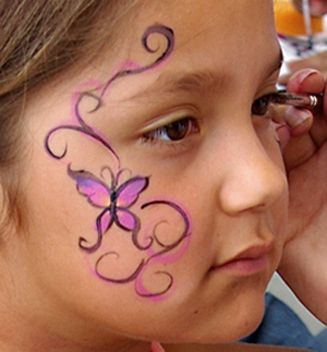 butterfly facepaint | face paint gallery click here to enlarge face paint pictures