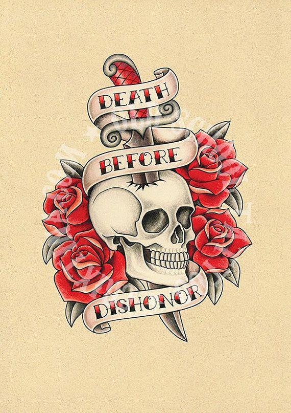 T10. illustrazioni di tatuaggio. Cranio, pugnale, Rose, Flash tattoo, tatuaggio Old school, Instant Download, illustrazione stampabile.