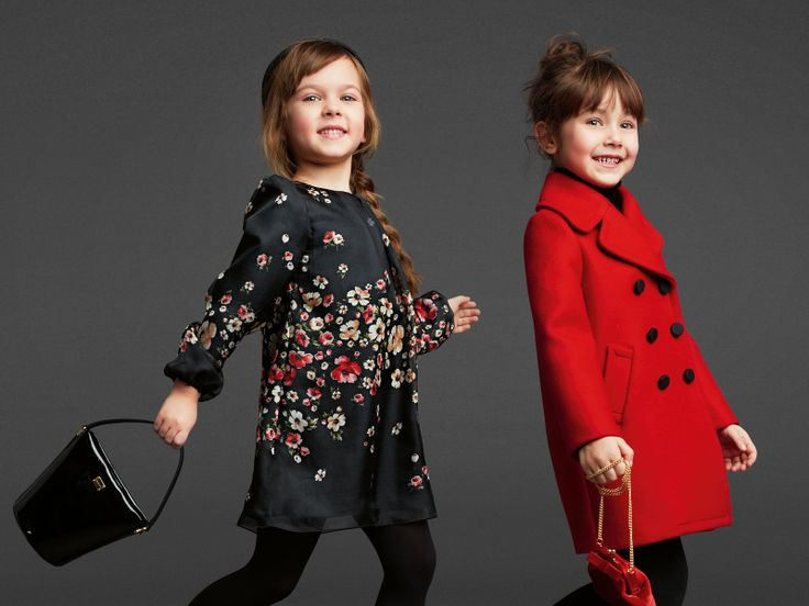 These are Dolce and Gabana, and they are inspiration for this year's coordinates for the little ones