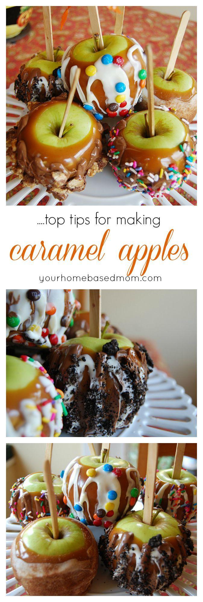 Top Tips for Making Caramel Apples. Fun Fall treat idea.