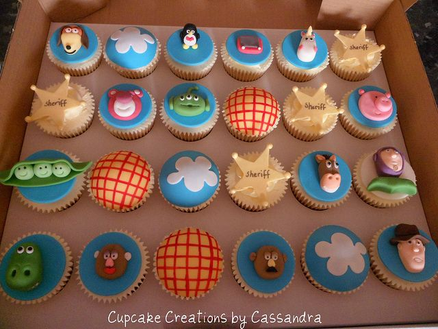 Toy Story Cupcakes by Cupcake Creations by Cassandra, via Flickr