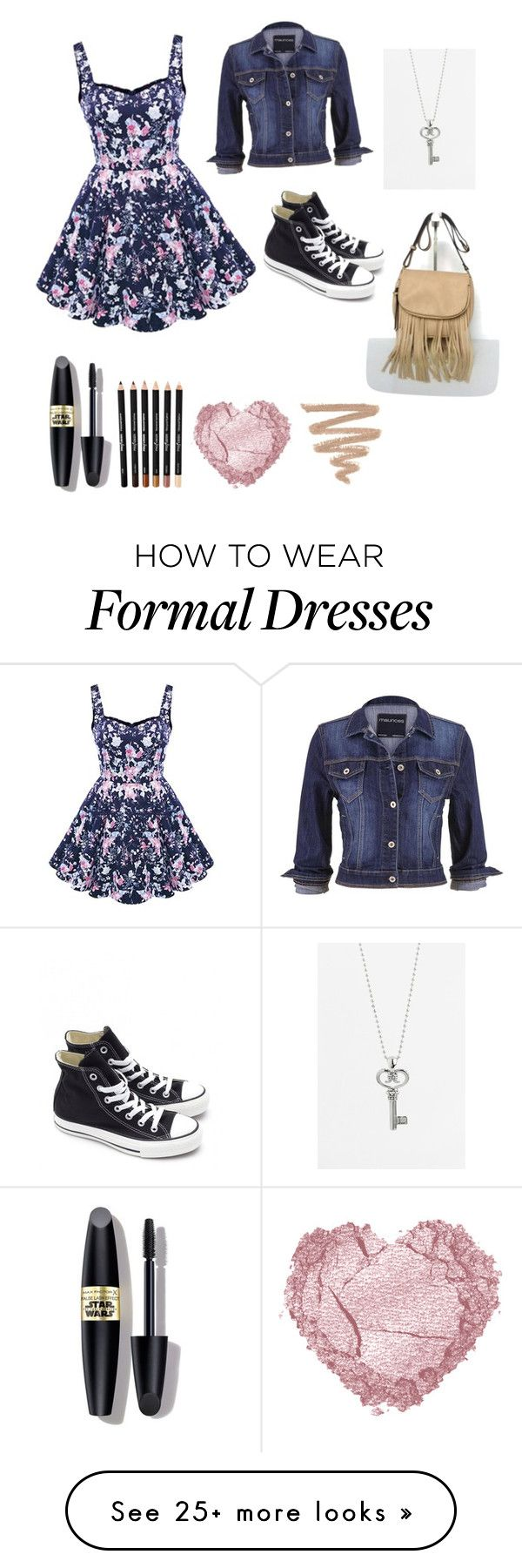 """Formal to casual"" by squidney12 on Polyvore featuring maurices, Lagos, Converse and Max Factor"