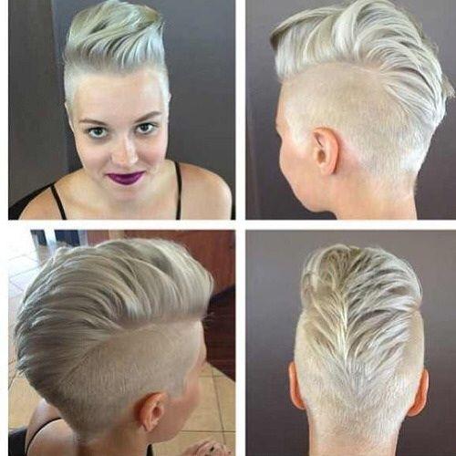 Blonde faux hawk
