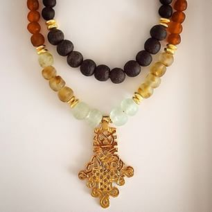 Selous collection, made with recycled glass beads from Ghana