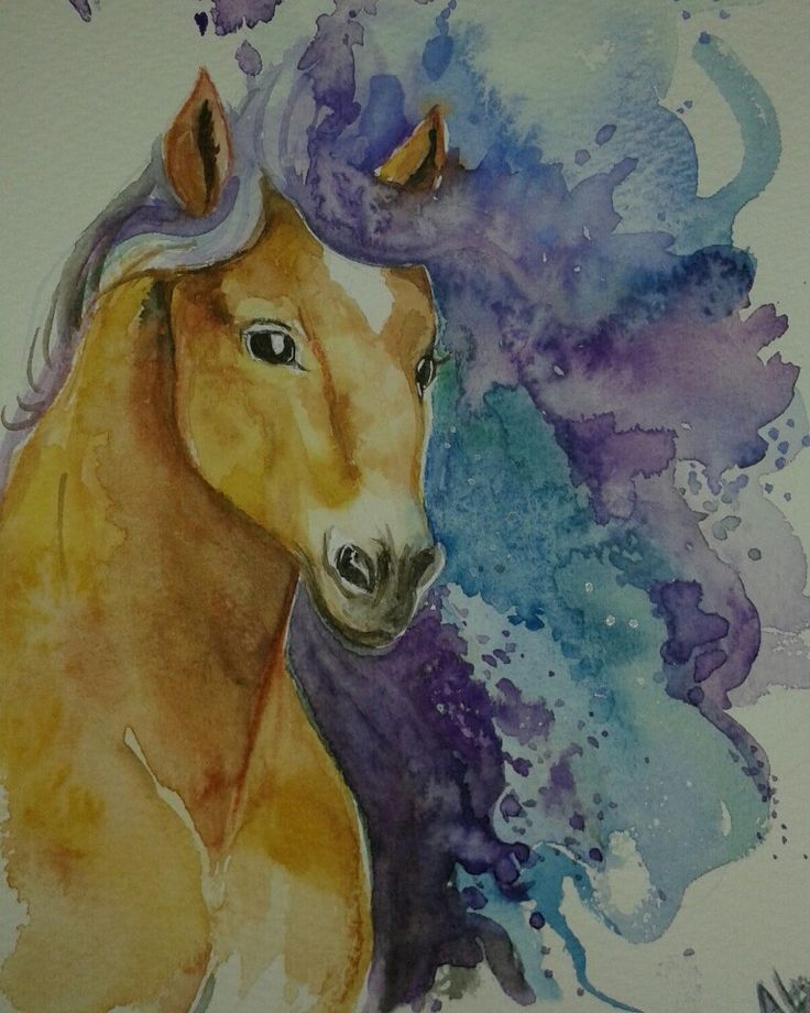 My horse!  Watercolor