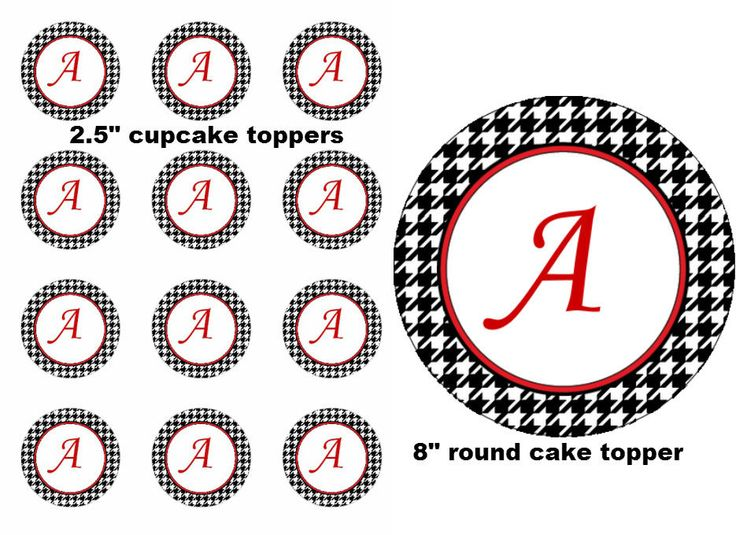 Alabama Football Roll Tide Edible Image Cupcake Cake Frosting Sheet  #LittlePeapod