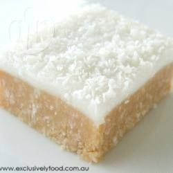 Lemon Coconut Slice I used Marie biscuits and added 2 teaspoons of lemon juice to base