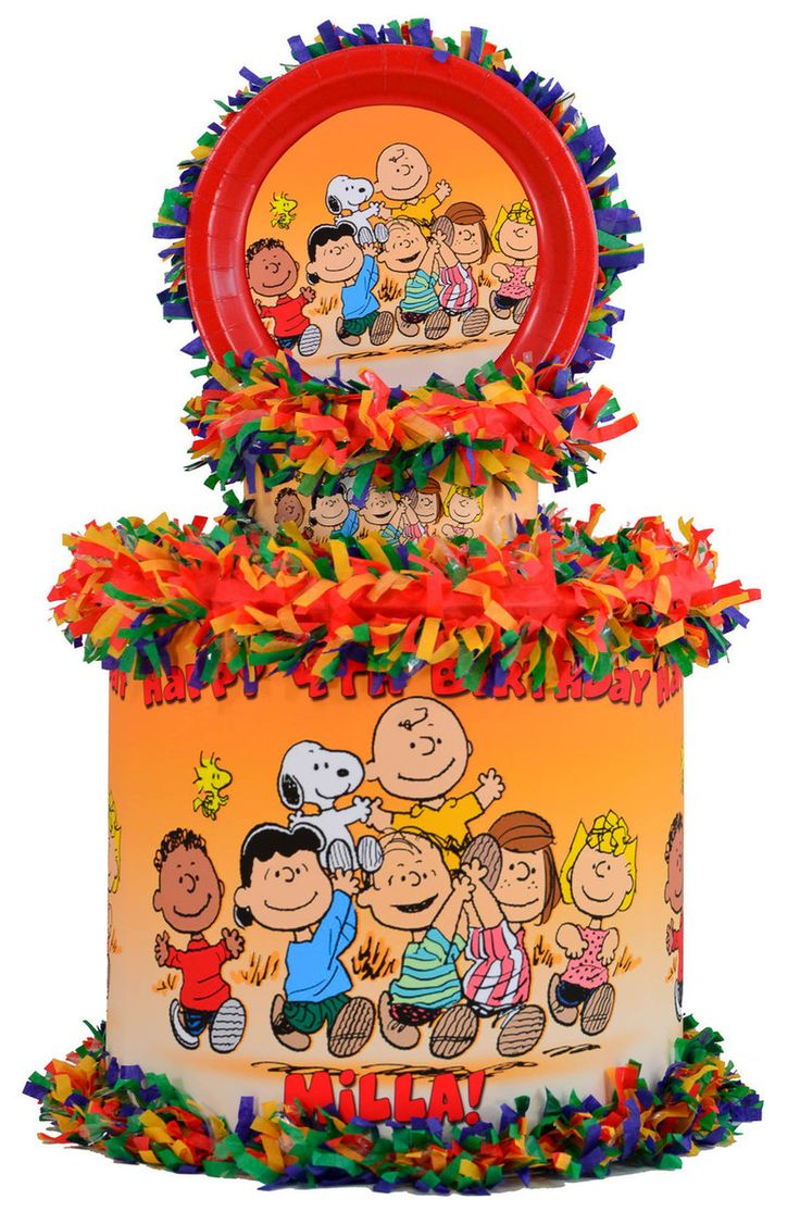 Peanuts pinata featuring Snoopy, Woodstock, Charlie Brown and Friends - WorldOfPinatas.com