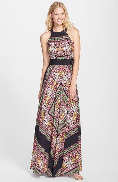 love this print maxi dress