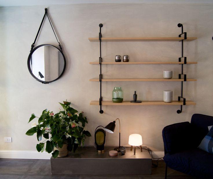 Demon shelf /Adnet mirror/Milk table lamp /Cloud one seater . Gubi+&Tradition. In Urban Shop Bologna