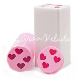 Molde de jabón, 4 mini inclusiones de corazón. Molde de silicona tubular, con el que conseguirás hacer preciosos jabones para tus detalles, ideal para San Valentín. Es muy sencillo. DIY