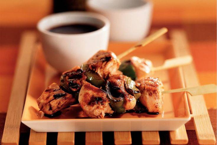 Kijk wat een lekker recept ik heb gevonden op Allerhande! Kip-paprika yakitori