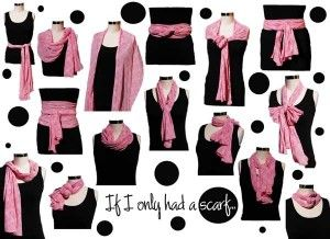 scarves 101. love new ways to tie scarves.Scarf Ideas, Ties Scarves, Fashion, Scarf Ties, Style, Clothing, Wear A Scarf, Ties A Scarf, Cars Accessories