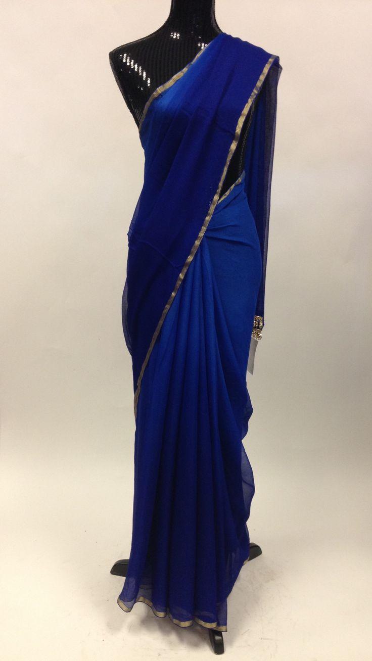 Chiffon Saree - Blue