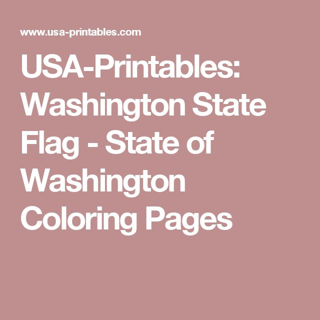 usa printables washington state flag state of washington coloring pages