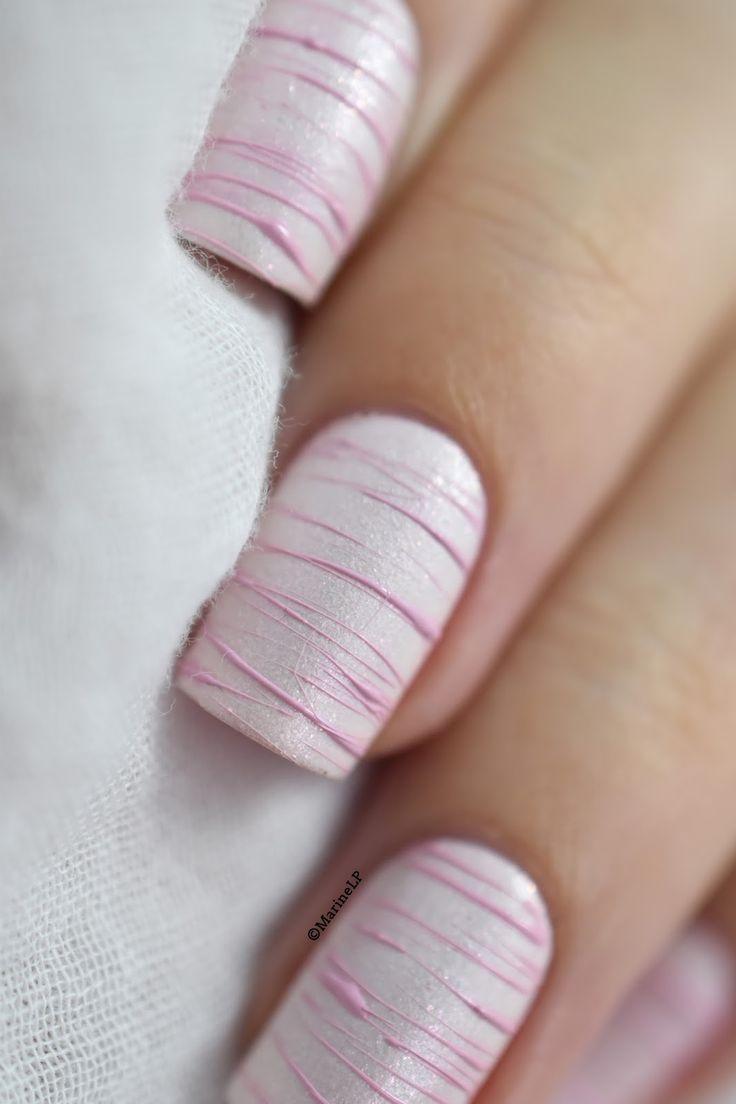 Sugar Spun nail art tutorial.