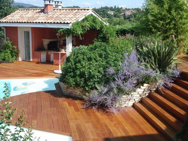 8 best Terrasses en bois images on Pinterest Wooden decks - terrasse en bois suspendue prix