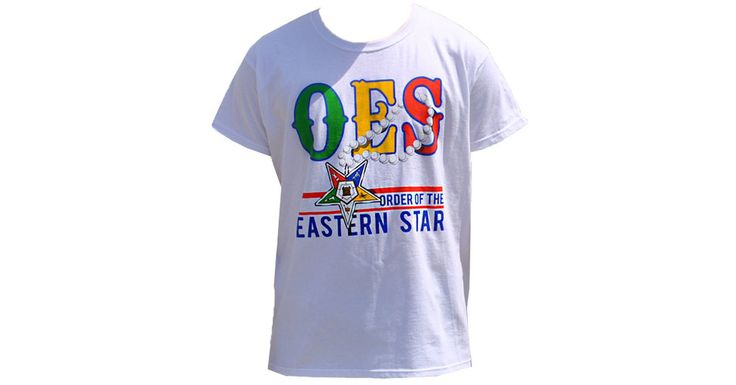 Order of the Eastern Star OES- Pearl- T-Shirt- White - Brothers and Sisters' Greek Store
