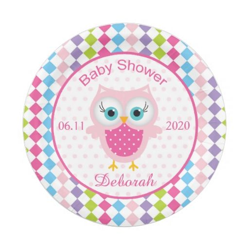 colorful paper plate owl 1000 images about baby shower plates on baby 3677
