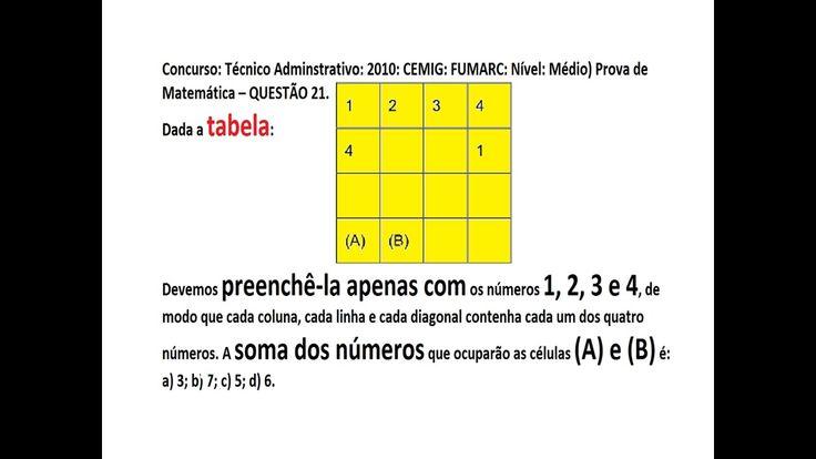 Curso Raciocínio Lógico  Matemático https://youtu.be/K1Syd6ZqWMA Padrão da Sequência números e figuras Teste Psic...