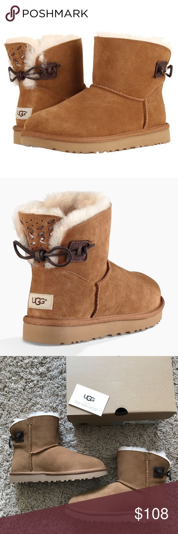 New Ugg Australia Adoria Short Chestnut Boots Ugg Australia Adoria Tehuano Short Boots in Chestnut •New in box •Size 6 •Retails for $150  Check out my other listings- Nike, adidas, Michael Kors, Kate Spade, Miss Me, Coach, Wildfox, Victoria's Secret, PINK, Under Armour, True Religion, Ugg Australia, Free People and more! UGG Shoes Ankle Boots & Booties