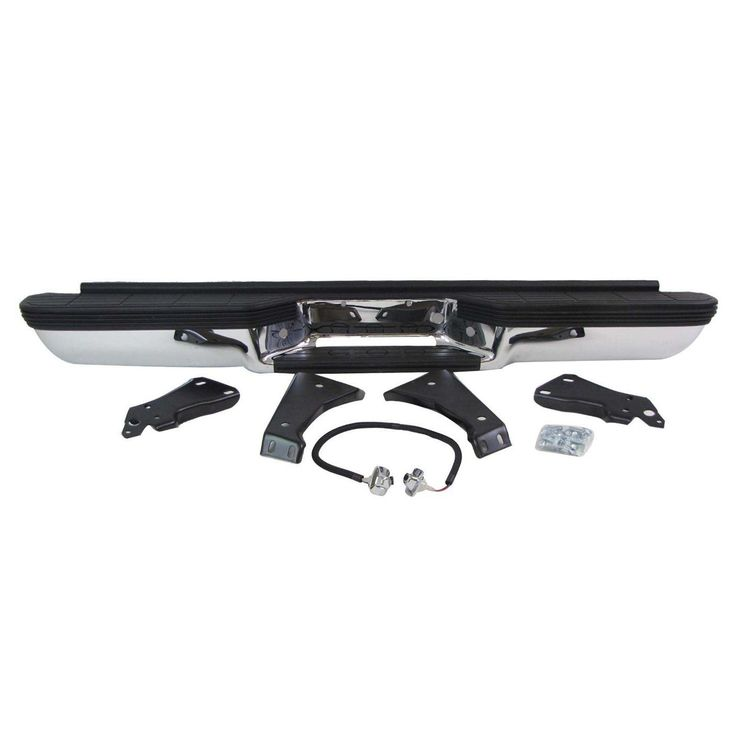 MBI AUTO - Chrome Steel, Rear Bumper Assembly for 1988-2000 Chevy Silverado & GMC Sierra C/K 1500 2500 Pickup 88-00, GM1101109
