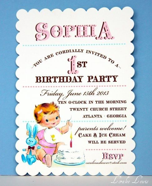 74 best Invitation Ideas images on Pinterest Invitations, Bag - fresh invitation card for first birthday of baby girl