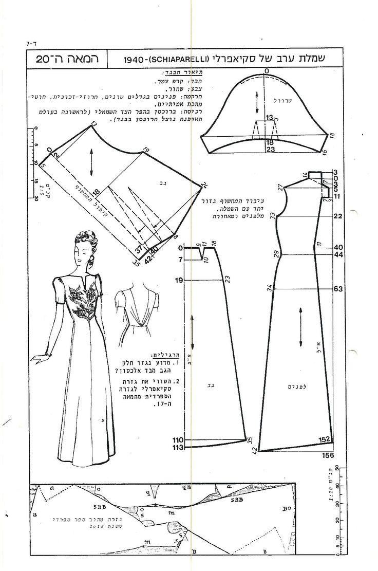 232 best sewing patternmaking free patterns images on pinterest schiaparelli dress clothing patternsdress patternssewing jeuxipadfo Image collections