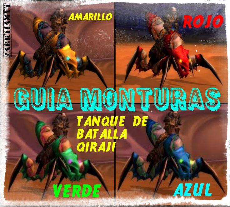 World of Warcraft|Templo de Ahn´Qiraj|Guía Monturas|Tanque Batalla Qiraj...