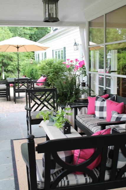 Classic porch- accented in pink & black
