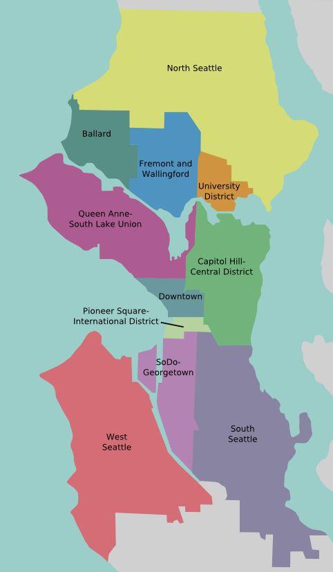 Seattle neighborhood quick ref map
