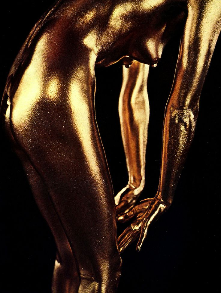 naked & golden | Bright Shiny Things | Gold bodies, Gold ...