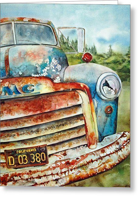 Old Rusty Greeting Card by Diane Fujimoto